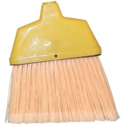 "Magnolia Brush 455-463 48"" Plastic Bristle Angle Broom, Flagged Cream"