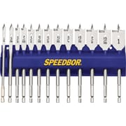SPEEDBOR® Tool Steel 13 pcs 2000 Standard Length Spade Bit Set, 1/4 - 1 in By 1/16 in