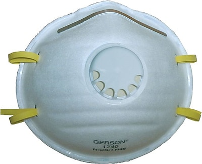 Gerson N95 Grade Cup Style Molded Particulate Respirator, 10/Box 848666