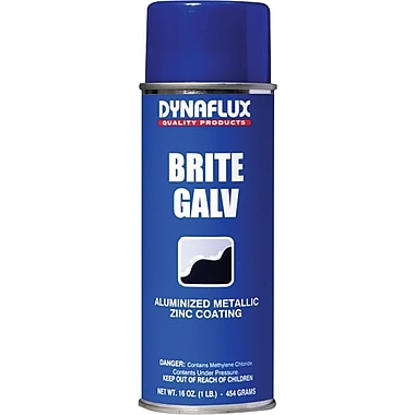 Dynaflux Brite Galv™ Bright Zinc Ultra Brand Galvanizing Compound, 16 oz Aerosol Can