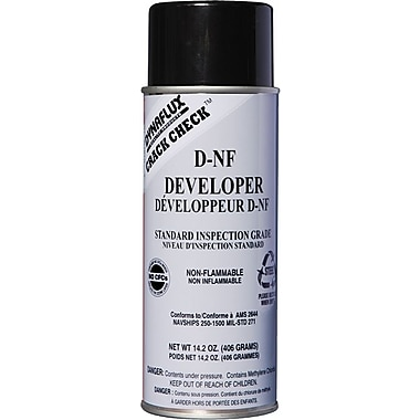 Dynaflux Crack Check™ Non-Flammable Developer, 14.2 oz Aerosol Can, Standard Grade