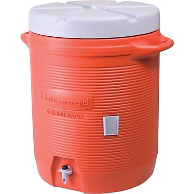 Rubbermaid® Orange Plastic Water Cooler, 15.39 in x 19.22 in x 15.77 in, 7 gal