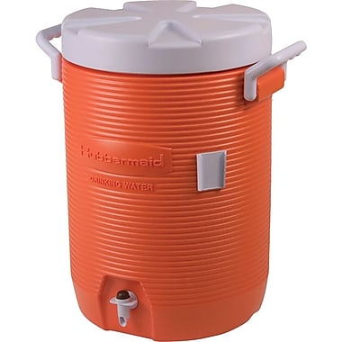 Rubbermaid® Plastic Jacket Water Cooler, 14 3/4 in (L) x 12 7/8 in (W) x 18 7/8 in (H), 5 gal