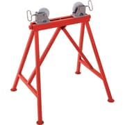 Ridgid® Adjustable Roller Pipe Stand, 34 in Height Adjustment, 36 in Pipe Capacity, 2500 lb