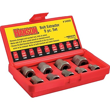 Irwin® Fractional Bolt Extractor Set, 9 pcs