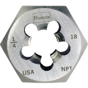 HANSON® High Carbon Steel Hexagon Re-Threading Taper Pipe Die, 3/4-14 NPT, 5 Flutes