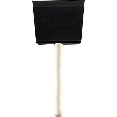 Rubberset® Cylindrical Wood Handle Foam Bristle Paint Brush, 1 in (W)