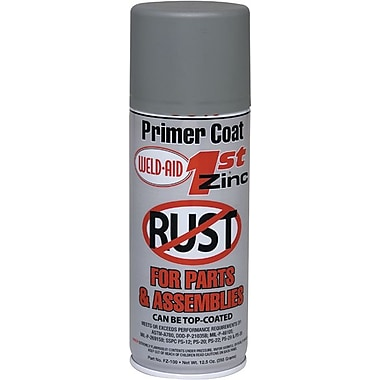 Weld-Aid® 1st Zinc Flat Gray Matte 95% Zinc-Rich Cold Spray Galvanizing Compound, 12 1/2 oz Aerosol Can