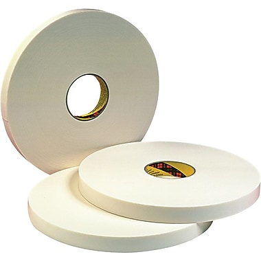 3M™ Off-White Urethane Foam Backing Double Coated Tape, 36 yd (L) x 1 in (W)