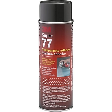 3M Super 77™ Clear Spray Multi Purpose Adhesive, 24 fl oz Aerosol Can