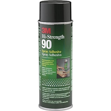 3M™ Clear Spray Hi Strength 90 Adhesive, 24 fl oz Aerosol Can