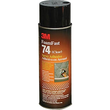 3M™ Clear Spray Foam Fast 74 Adhesive, 24 fl oz Aerosol Can