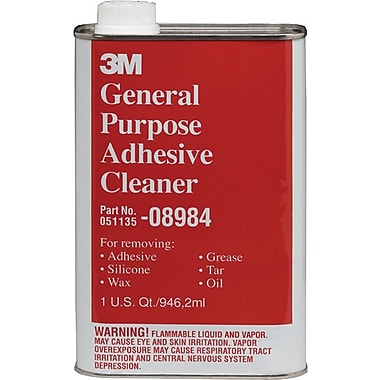 3M™ Clear Liquid General Purpose Adhesive Cleaner, 1 qt Aerosol Can