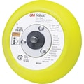 Stikit™ Yellow Regular Molded Disc Pad, 5 in (Dia), 10000 rpm