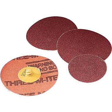 Roloc™ Three-M-ite™ Yellow AO 361F Series Abrasive Disc, 3 in (Dia), 80