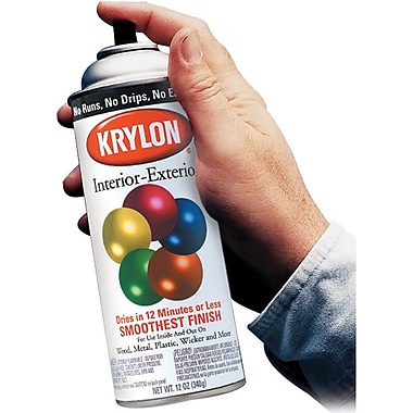 Krylon® 12 oz Aerosol Can Spray Enamel, Acrylic Lacquer, White, Gloss