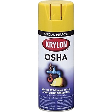 Krylon® 12 oz Aerosol Can Spray Enamel, Safety Yellow