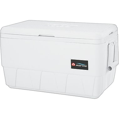 Igloo® White Marine Ice Chest Cooler, 20 in (L) x 11 1/4 in (W) x 13.13 in (H), 25 qt