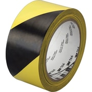 3M™ Black And Yellow Diagonal Stripe Hazard Marking Vinyl Tape, 36 yd (L) x 2 in (W)