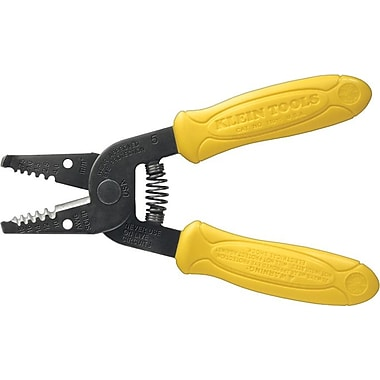 Klein Tools® Wire Stripper/Cutter, 10 - 18 AWG Solid (4 - 3/4 sq mm) Capacity, 6 1/4 in (OAL)