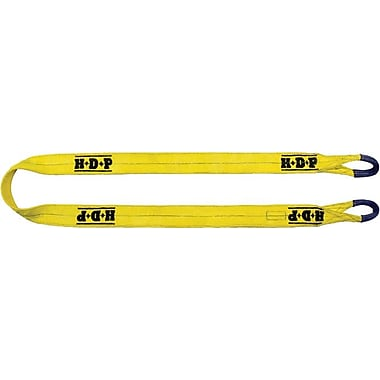 HDP™ Yellow Polyester Web Sling With Flat Eye, 8 ft (L), 2 in (W)