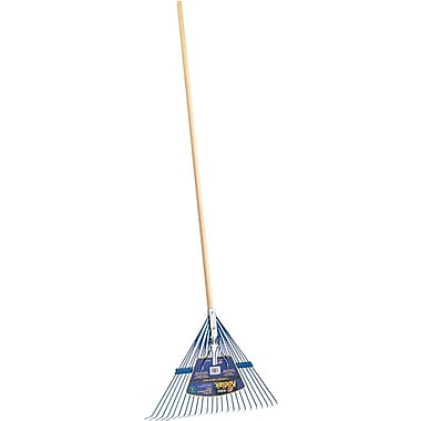 Kodiak® Steel Tine Spring Brace Rake, 24 in Length x 23 in (W) x 1 1/4 in (H) Blade, 68 in (L)