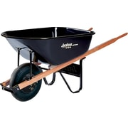 Jackson® Black Steel Platform Medium Duty Contractor Wheelbarrow, 25 1/2 in (W) x 27 in (H), 6 cu ft