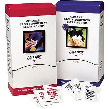 Allegro® Benzalkonium Chloride Regular Alcohol Free Respirator Cleaning Pad, 5 in (L), 7 in (W)