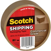 "Scotch Commercial Grade Shipping Packing Tape, 1.88"" x 54.6 yds, Tan, 1/Pack"