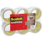 "Scotch Commercial Grade Shipping Packing Tape, 2.83"" x 54.6 yds, Clear, 6/Pack"