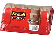 Scotch® Commercial Performance Hand Packaging Tape Dispenser, 4 Dispensers/4 Rolls