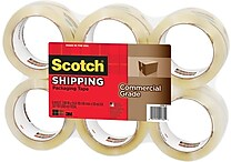 Scotch® Commercial Performance Packaging Tape, Clear, 1.88' x 54.6 yds, 6 Rolls