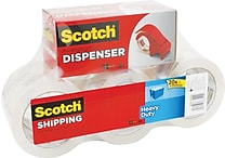 Scotch® Premium-Performance Hand Packaging Tape Dispenser, 1 Dispenser/6 Rolls