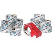 "Scotch Premium Performance Hand Packing Tape Dispenser, 1.88"" x 54.6 yds, Clear, 12/Pack"