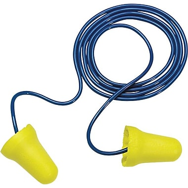 E-Z-Fit™ Yellow Foam Corded Earplug, 28 dB, 200/Box