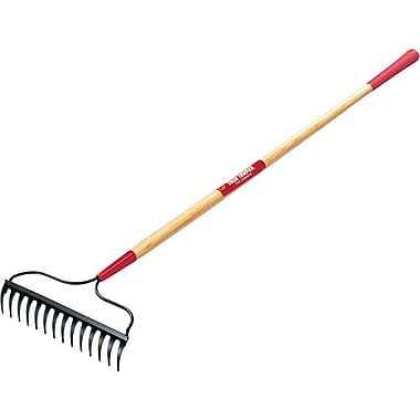 True Temper® Kodiak® Forged Steel Tine Garden bow Rake, 14 in (W) x 3 in (H) Blade, 65 in (L)