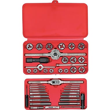 HANSON® High Carbon Steel 53 pcs Machine Screw Fractional Plug Tap And Hexagonal Die Set