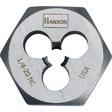 HANSON® High Carbon Steel Hexagon Machine Screw Die, 1/4 in