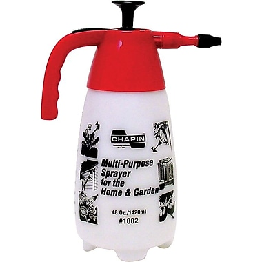 Chapin™ Poly Adjustable Cone Nozzle Polyethylene Multi Purpose Pressurized Hand Sprayer, 48 oz