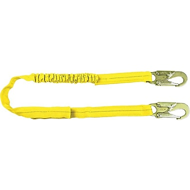 SafeWaze™ SafeLight™ Polyester Webbing Shock-Absorbing Tubular Low Profile Lanyard, 310 lb, 6 ft (L)