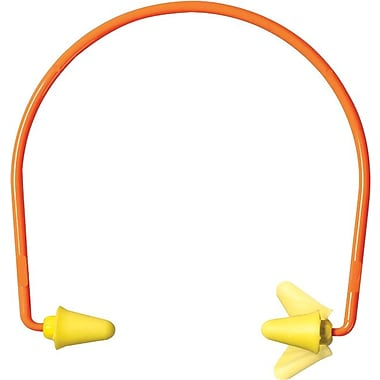 E-A-R flex 28™ EARform™ Yellow Foam Corded Semi Aural Push-in Earplug, 28 dB, 10 Pairs/Box