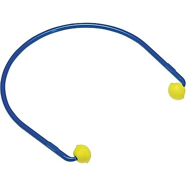 Caps® Yellow Foam Corded Semi Insert Push-in Earplug, 17 dB