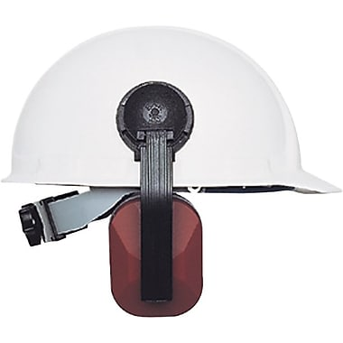 E-A-R® Plastic Headband Helmet Mount Earmuff, Maroon, 21 dB