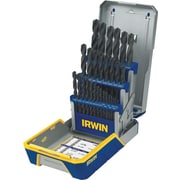 Irwin® Black Oxide HSS 29 pcs Grade Heavy Duty Drill Bit Set, 1/16 - 1/2 in By 1/64 in