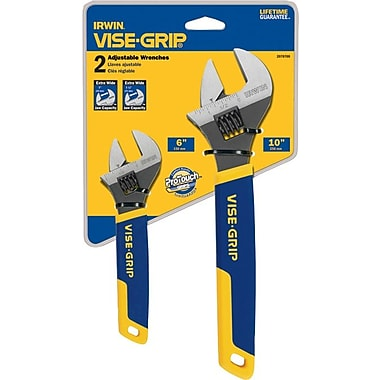 VISE-GRIP® 2 pcs Chrome Vanadium Steel Adjustable Wrench Set, 6 in, 10 in (L)