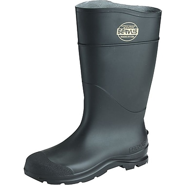 Servus CT™ Economy Steel Toe Knee Boots, PVC, 15 Size, Black, 100% Waterproof