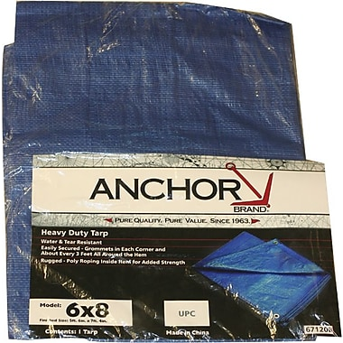 Tarps Polyethylene Multiple Use Tarpaulin, 8 ft (L) x 6 ft (W)