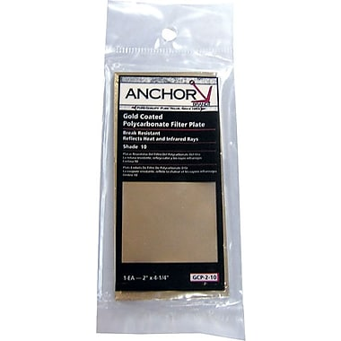 Anchor Brand® Gold Coated Polycarbonate Filter Plate, 2 in (W), 4 1/4 in (L), #9