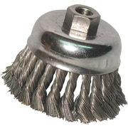 Anchor Brand® CS Wire Knot Cup Brush, 3 in (Dia), 0.02 in (Dia) Bristle, 2 3/4 in (L) Trim