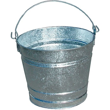 Magnolia Hot Dipped Galvanized Steel Pail, 8 qt.